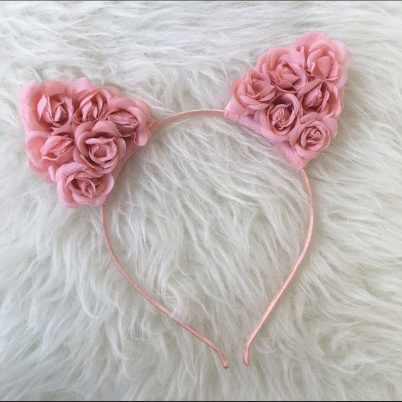 FESTIVAL HAND MADE FLOWER CAT EARS NEW New Accessories