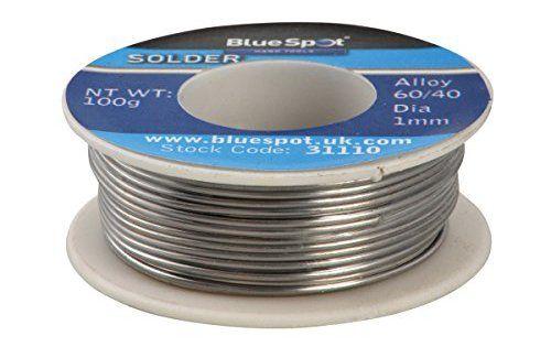 Blue Spot 31110 Bobine de brasage 100g: 100 g Brasage pour conduire l'électricité 60: 40 Étain: bobine Cet article Blue Spot 31110…