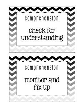 "Here are the CAFE strategy cards. Each card has the title above it (comprehension, accuracy, fluency, and expand vocab) above the strategy. Print as is (two per page) or print in PPT as ""slides"" for smaller cards.Please download my Daily 5 cards for free, too!"