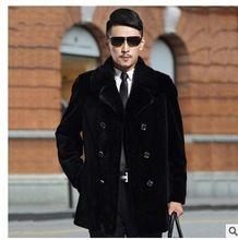 Mens Casual Winter Nertsen Bont Jas Faux Bontjassen Lange mannelijke Bont Overjassen Grote Maat 5Xl Zwart Outwears Casaco Masculino J1539(China (Mainland))