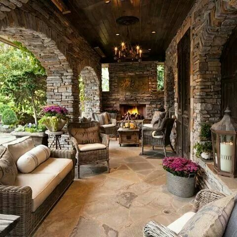 16 best walk out basement images on pinterest outdoor for Patios decorados