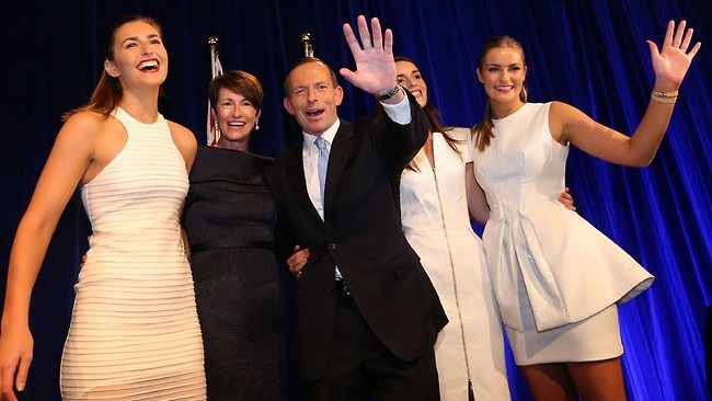 Tony Abbott claims victory and says Australia is 'open for business'