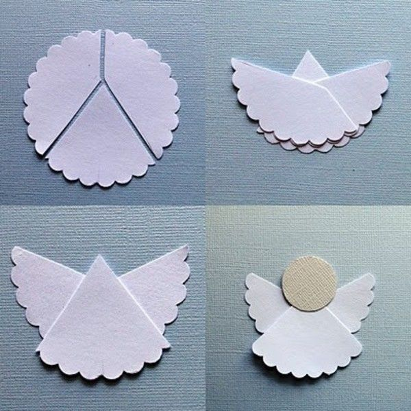 un ornement de sapin original - un petit ange en papier