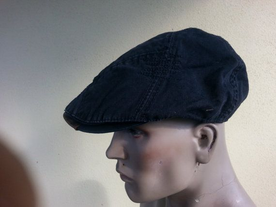 newsboy flat cap black patchwork gatsby baker by youareoutthere