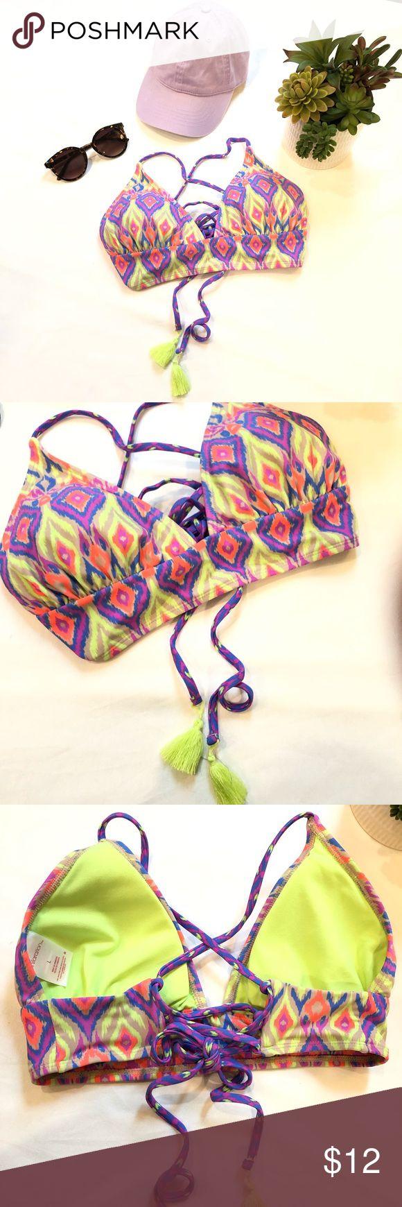 Neon Abstract Bikini Top Tassel bikini top  colored bikini top size large  Note:…