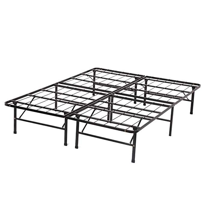 Bed Frame Platform Folding Bed Frame Metal Base Mattress