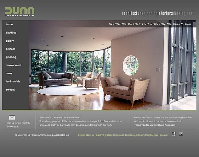 dunn architecture  website design | ocreations, award-winning Pittsburgh Design Studio - visit www.ocreations.com