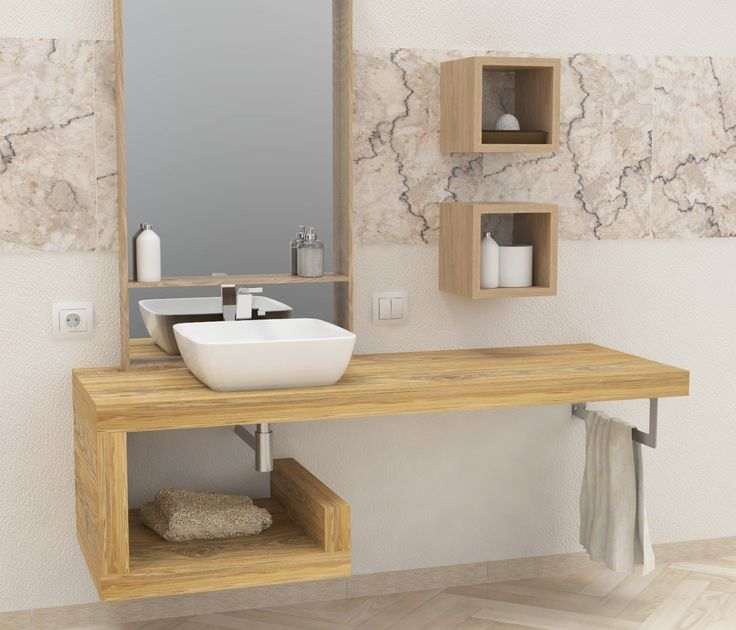 Oltre 25 fantastiche idee su mensole da bagno su pinterest - Lavabo 40 cm profondita ...