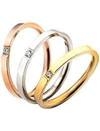 Alliance Mariage Anniversaire Amour Acier Inoxydable Trois Anneaux ...