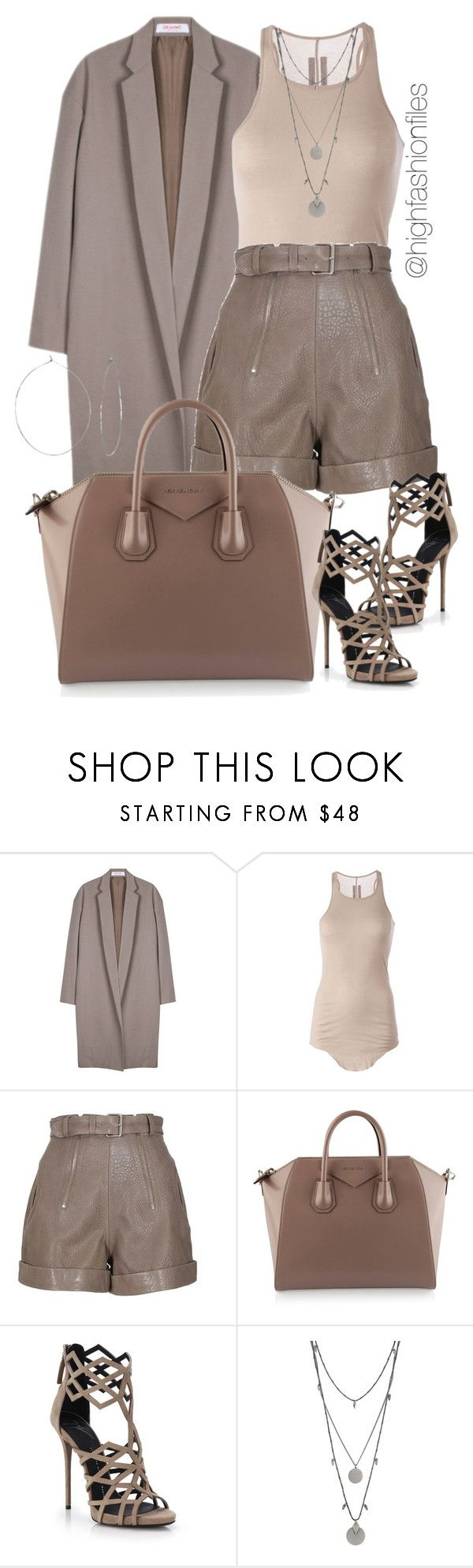 """Taupe"" by highfashionfiles ❤ liked on Polyvore featuring Organic by John Patrick, Rick Owens, Carven, Givenchy, Giuseppe Zanotti, Vince Camuto and Phyllis + Rosie"