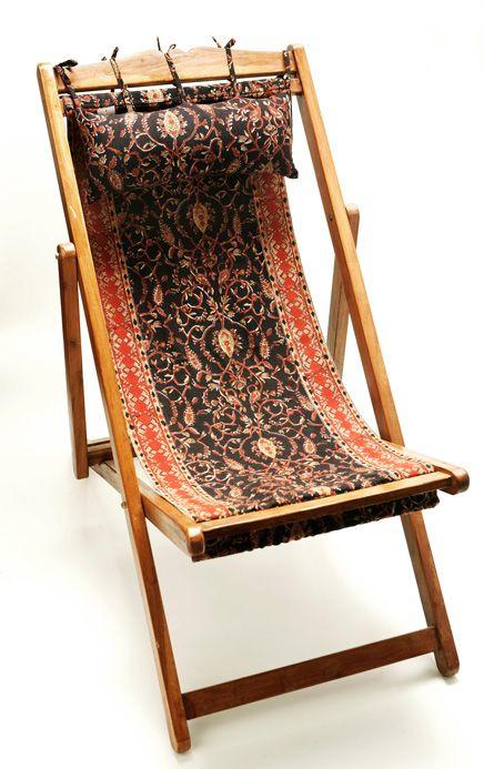 Ebont Black Deck Chair