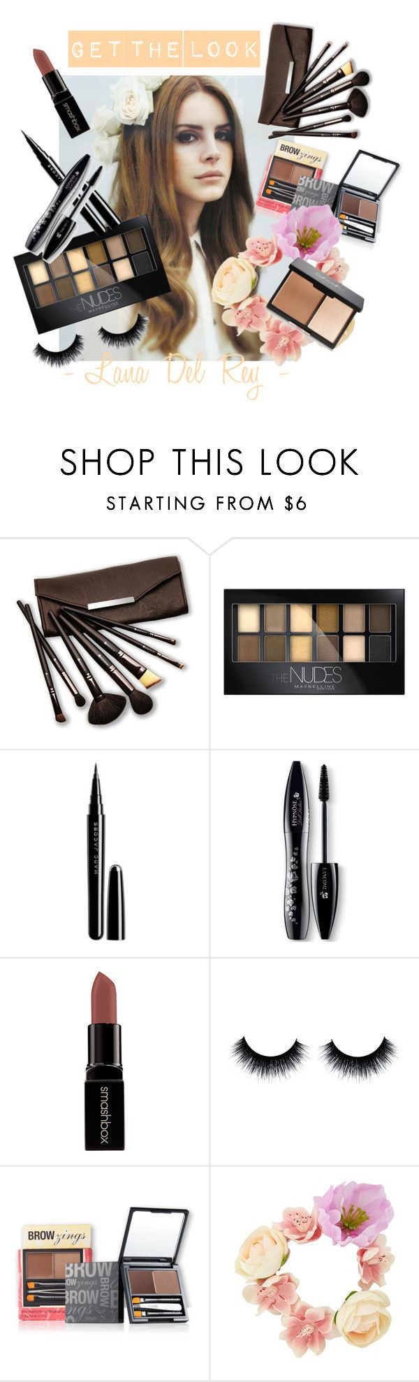 """""""Get The Look - Lana Del Rey"""" by stylebycharlene on Polyvore featuring beauty, Borghese, Maybelline, Marc Jacobs, Lancôme and Smashbox"""