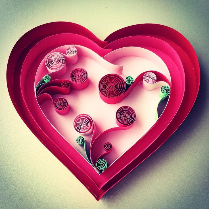 1000 Images About Quilling Hearts On Pinterest