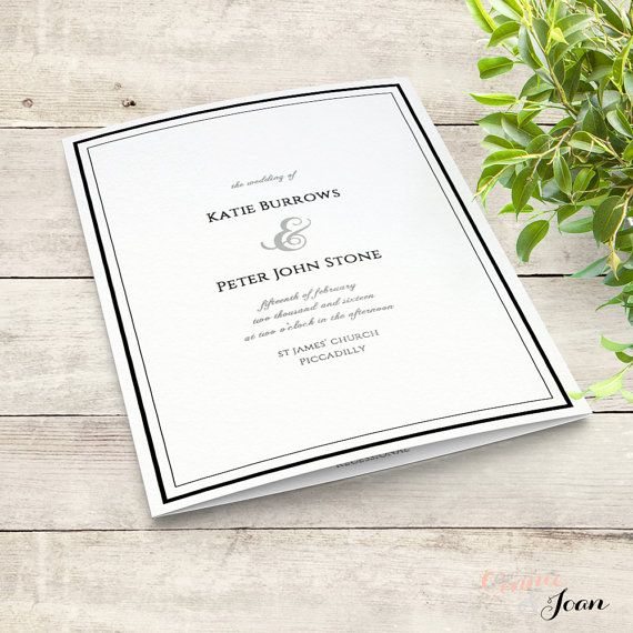 Best 25 order of service template ideas on pinterest order of printable wedding program order of service template folded pronofoot35fo Gallery