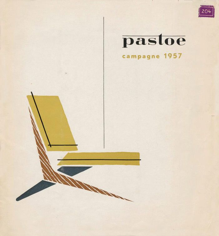 ad from 1957 run by dutch furniture brand pastoe.