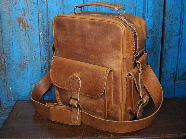 Vintage Leather Flight Bag 1 by Scaramanga