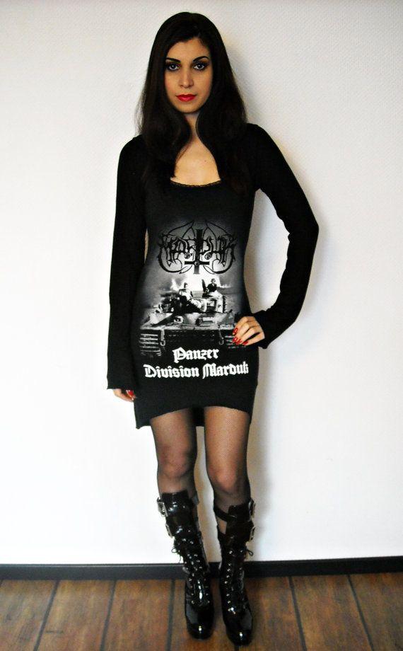 Marduk shirt Hoodie hooded tunic top black metal clothing alternative apparel altered band tee t-shirt rocker clothes satanic dark style