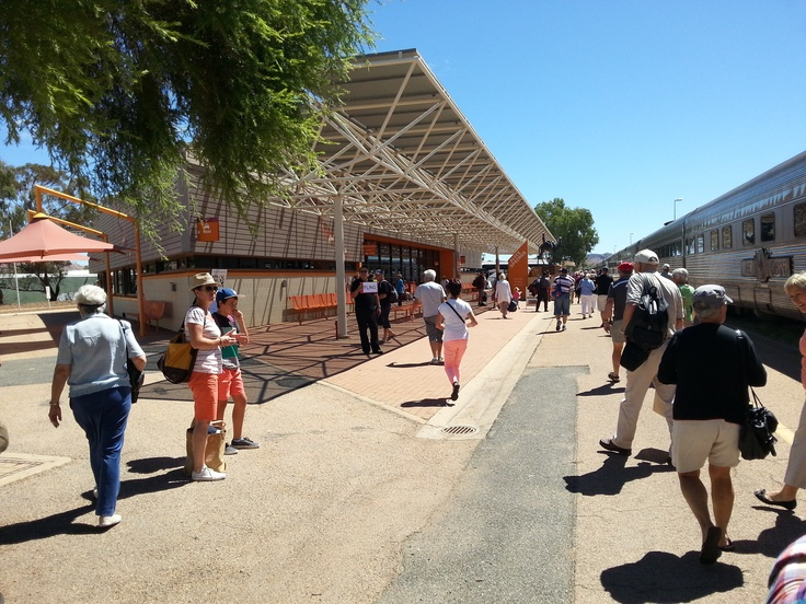 The Rail Station at Alice Springs