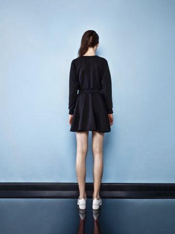 BLACK SPORTY DRESS Back