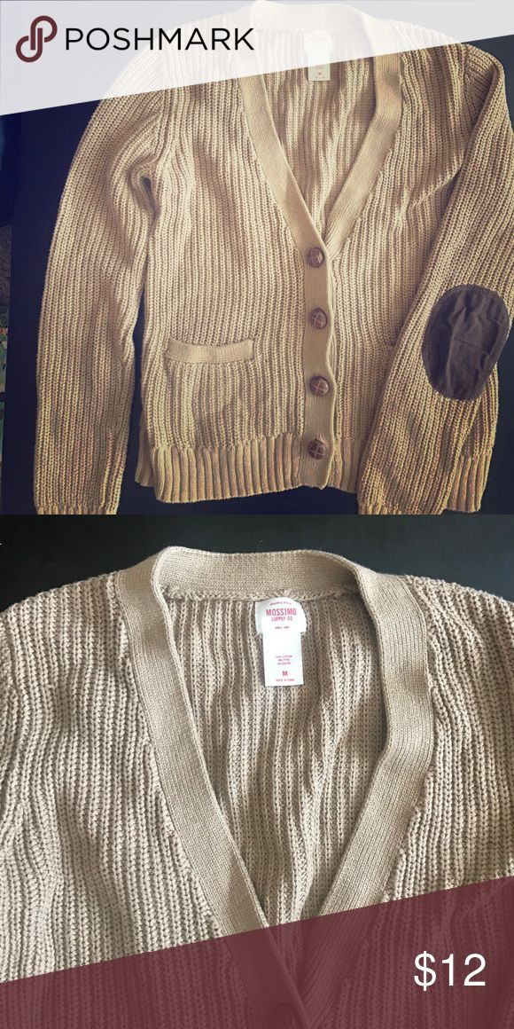 Mossimo brown elbow patch sweater Great condition. Brown mossimo elbow patch sweater. Size medium. Mossimo Supply Co Sweaters Cardigans