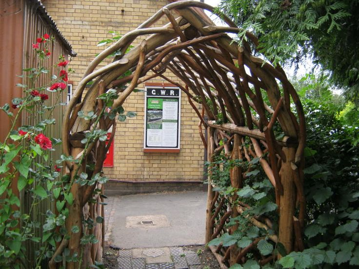 14 best images about twig fences on pinterest gardens for Garden archway designs