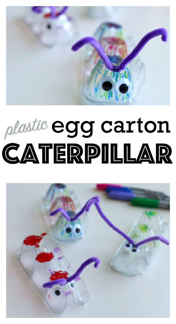 Best 20 egg carton caterpillar ideas on pinterest for Plastic egg carton crafts