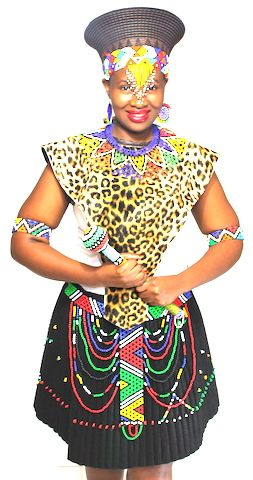 Traditional Zulu Bride outfit.