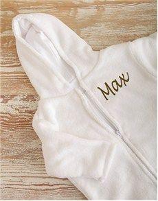 New Baby Gifts: Personalised Fleece Baby Sleeping Jacket!