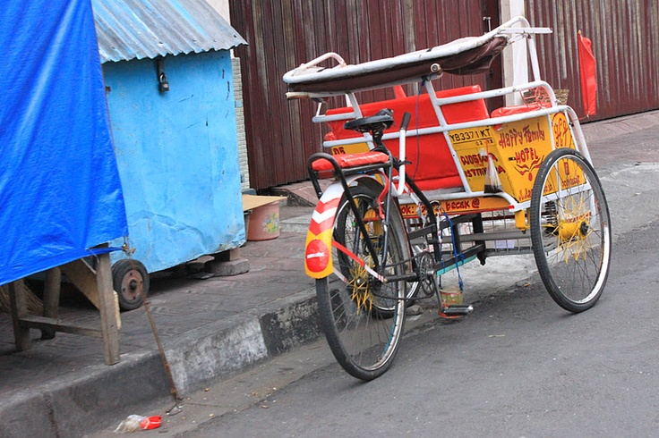 becak,     Jogjakarta / Yogyakarta, Java, Indonesia