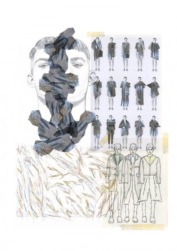 Fashion Portfolio layout - fashion design drawings, collection development; fashion sketchbook; fashion illustration // Jamie Richard Long
