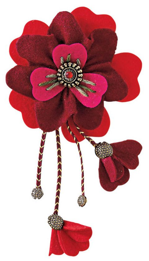 How to make a felt flower brooch - Better Homes and Gardens - Yahoo!7
