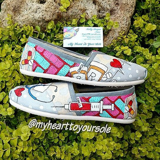 Price includes shoes. Nurse TOMS by MyHeartToYourSole on Etsy