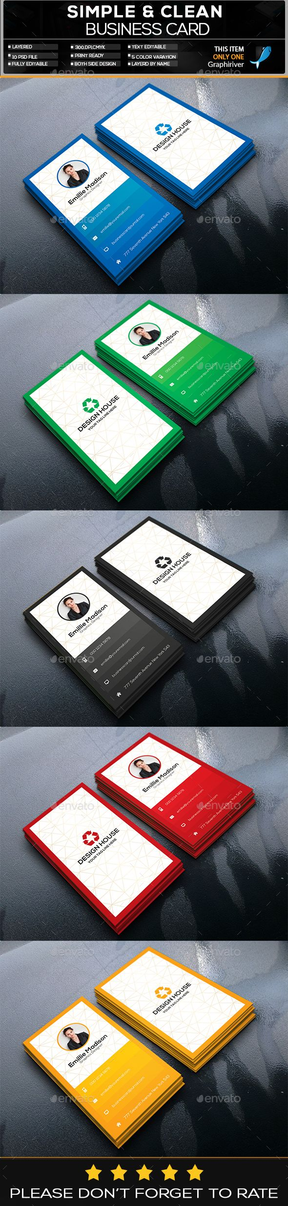 Vertical Business Card - #Business #Cards Print Templates Download here: https://graphicriver.net/item/vertical-business-card/20271854?ref=alena994