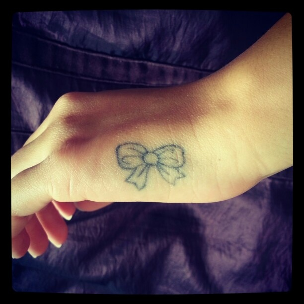My little tattoo on the side of my hand which looks like for Do tattoos on hands fade