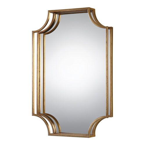 Lindee Gold Wall Mirror Uttermost Octagon Mirrors Home Decor