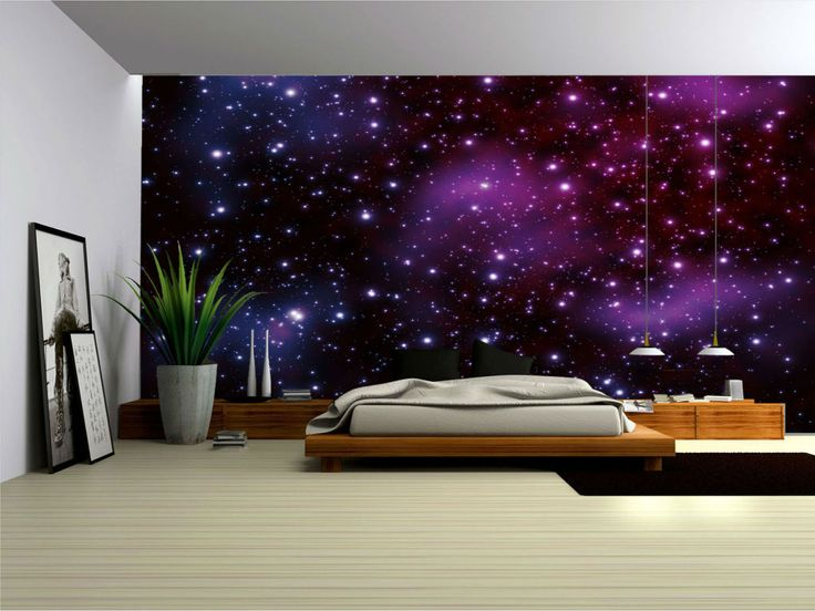 Decorating rooms galaxy pesquisa google galaxy for Space wallpaper bedroom
