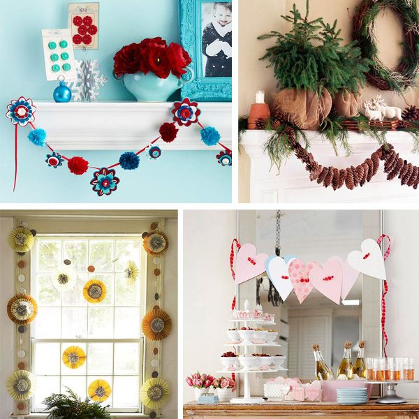 Perfect DIY Garland Is An Easy Way To Perk Up A Room. Get Gorgeous Garland Ideas
