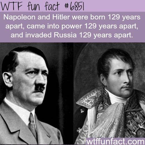 Napoleon and Hitler - WTF fun fact