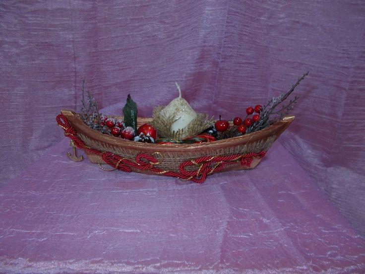 κεραμική βάρκα με κεράκι