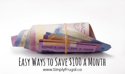 easy ways to save $100 a month