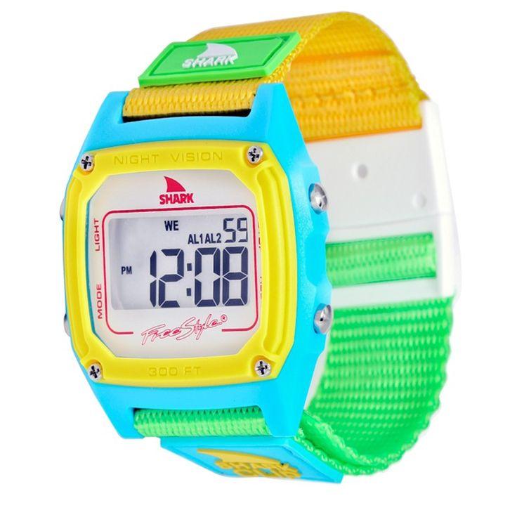 Freestyle Watch Shark Clip White Neon At Hansen's Surf Shop $55
