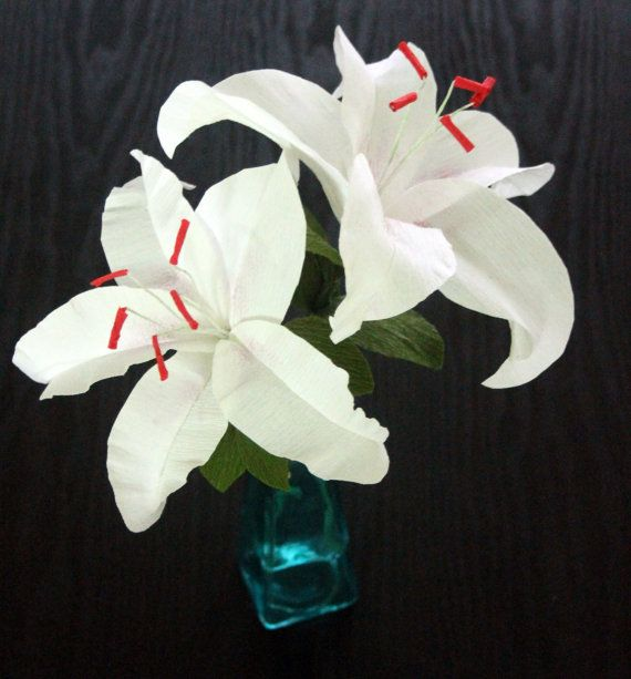 This listing is for One Casablanca Lily.Measures 6 inch wide .Perfect for wedding decoration on low cost.Check back soon for different variety of