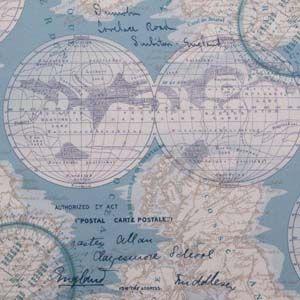 Hertex Fabrics Design: Maps Oceanic