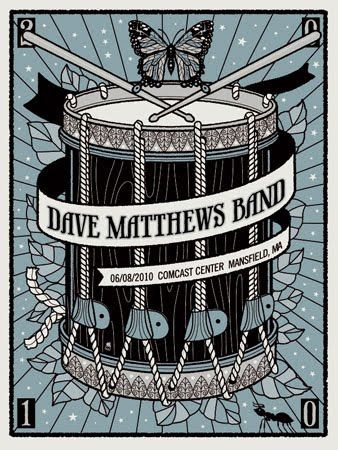INSIDE THE ROCK POSTER FRAME BLOG: Dave Matthews Band Posters By Methane Studios