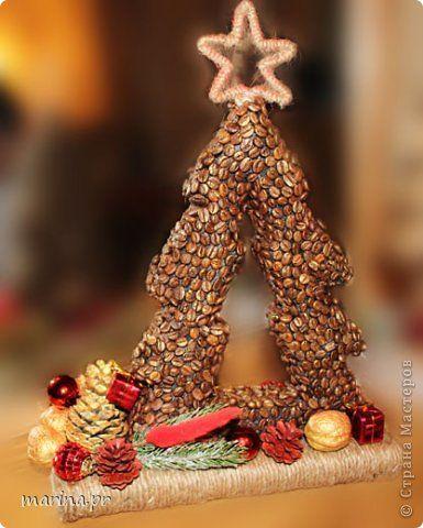 Бонсай топиарий Новый год Ёлки кофе Новый Год Кофе фото 1