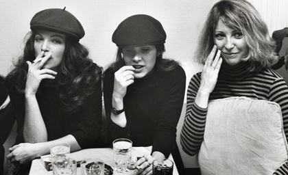 Amy Irving, Carrie Fisher and Terri Garr in NYC, 1977.