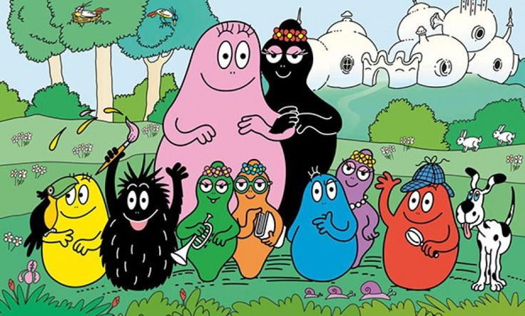 Barbapapa, could these guys have been weirder? 1970s yall. I loved them.