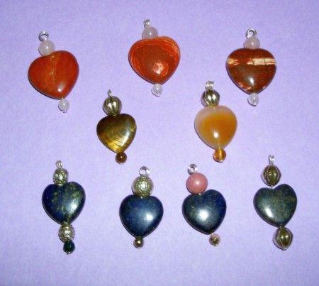 Szívek Bálint Napra , Ásványos Gemstone Valentine's Hearts, www.hauservirag.hu