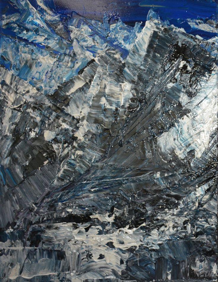 Diptyque : À la conquête des sommets enneigés (Gauche)