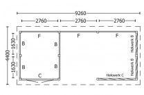 category Tuinhuis / Blokhut Trendhout Kapschuur De Hoeve XL 9260mm D 520146520147D-10